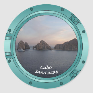 Cabo at Sunset Round Stickers