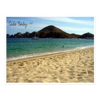 cabo beach baby postcard