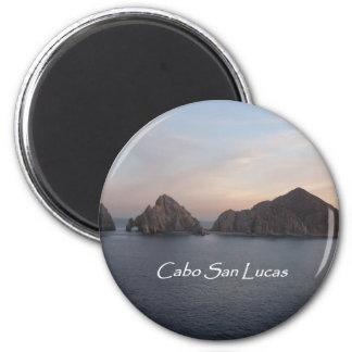 Cabo San Lucas at Sunset 6 Cm Round Magnet