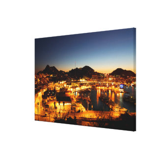 Cabo San Lucas Cityscape At Sunset, Mexico Stretched Canvas Print