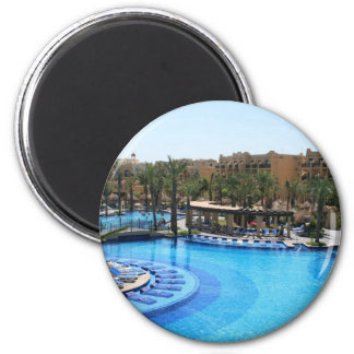 Cabo San Lucas Mexico Pool View 6 Cm Round Magnet