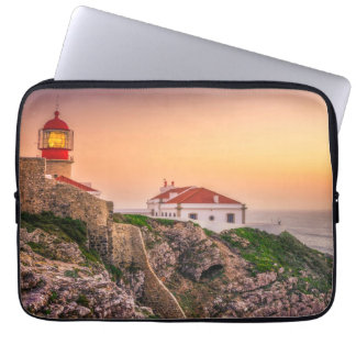 Cabo Sao Vicente At The Sunset   Algarve, Portugal Laptop Sleeve