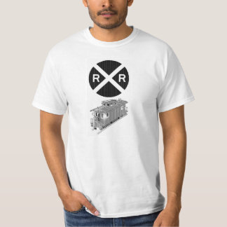 Caboose And Railroad Sign T-shirts
