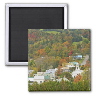 Cabot, Vermont in fall. Northeast Kingdom. Square Magnet