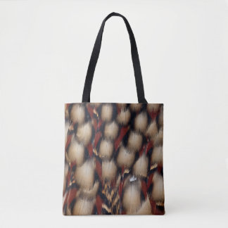 Cabot'S Tragopan Feather Pattern Tote Bag