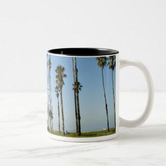 Cabrillo Avenue, Santa Barbara, California Two-Tone Coffee Mug