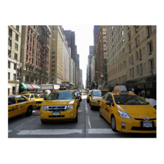 Cabs in New York City Postcard