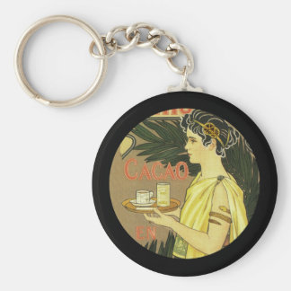 Cacao and Chocolade VanHouten Basic Round Button Key Ring
