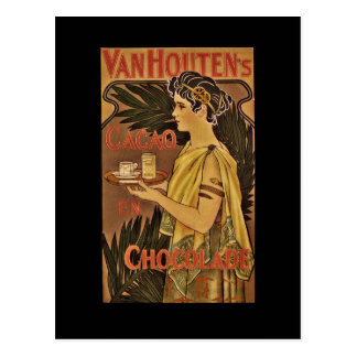 Cacao and Chocolade VanHouten Postcard