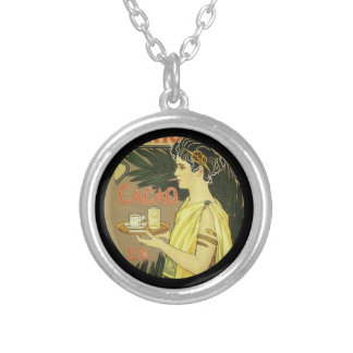 Cacao and Chocolade VanHouten Round Pendant Necklace