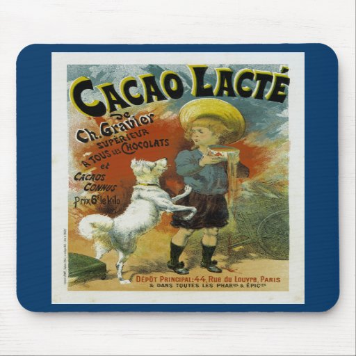 Cacao Lacte Chocolate Milk Mouse Pads