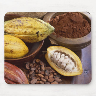 Cacao pod containing cacao beans which are mouse mat