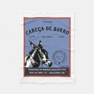 Cachaça Donkey Head label Fleece Blanket