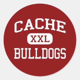 Cache - Bulldogs - High School - Cache Oklahoma Classic Round Sticker