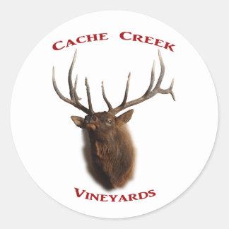 Cache Creek Vineyards Classic Round Sticker