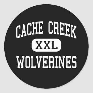 Cache Creek - Wolverines - High - Yolo California Round Stickers