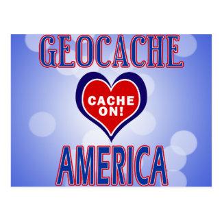 CACHE ON! GEOCACHE AMERICA! POSTCARD