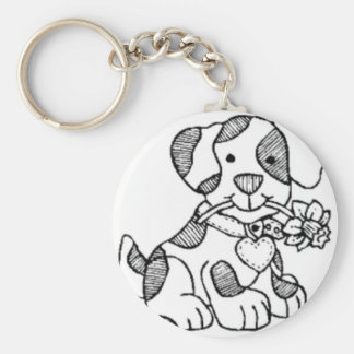 cachorro.png basic round button key ring