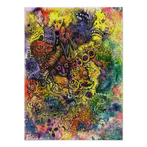 Cacophony of Colour Poster