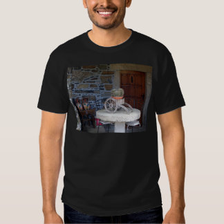 Cacti, cart, pots and table, Spain T-shirts