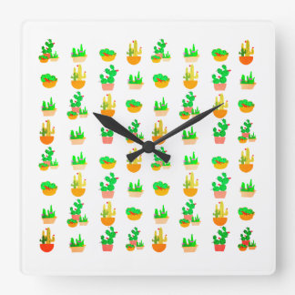 Cacti Festival Wall Clocks