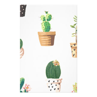 Cactus and Plants Stationery