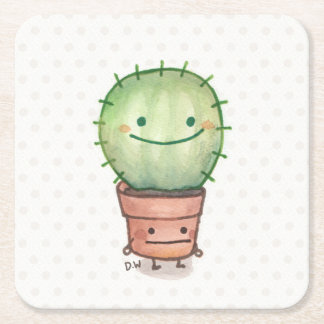Cactus and Pot Coaster