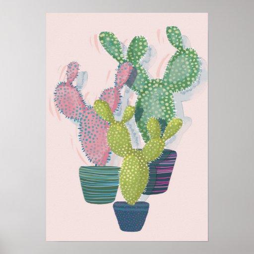 Cactus Art Print Poster