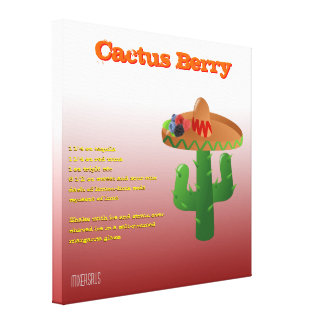 Cactus Berry Drink Recipe Gallery Wrapped Canvas
