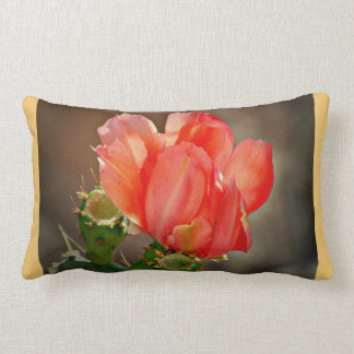 Cactus Bloom in Red Custom Polyester Pillow