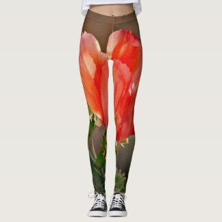 Cactus Bloom in Red Custom Women's Leggings
