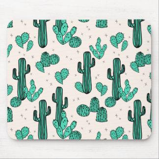Cactus / Cacti Green Cream Tropic / Andrea Lauren Mouse Pad