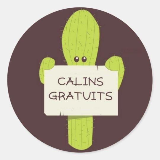 Cactus Calin Classic Round Sticker