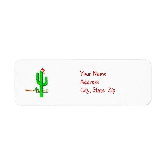 Cactus Christmas Tree - Address Labels
