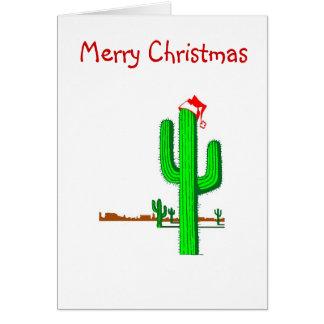 Cactus Christmas Tree - Greeting Card