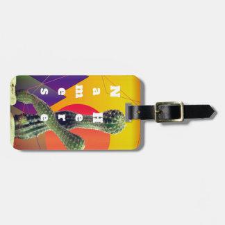Cactus Colorful custom Luggae Tags