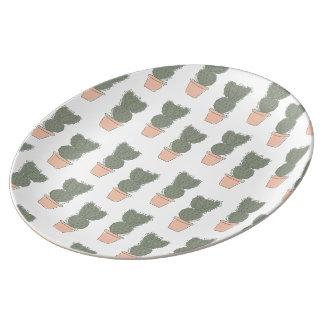 Cactus concept 2 chalkboard porcelain plates