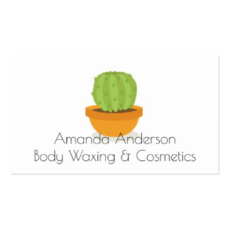 cactus Cosmetics and waxing Beauty Appointment Pack Of Standard Business Cards