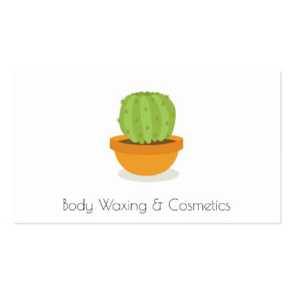 Cactus Cosmetics and waxing Beauty Business Card