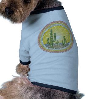 Cactus desert sunset ringer dog shirt