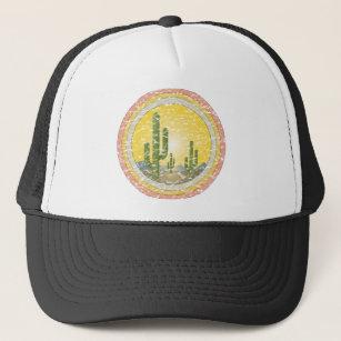 35f76aa002a Cactus desert sunset trucker hat