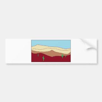 Cactus desert vista bumper sticker