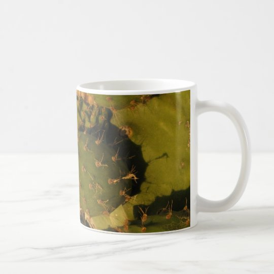 Cactus Detail Photo Classic White Mug