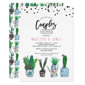 Cactus & Dots | Couples Shower | Invitation