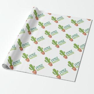 Cactus Feliz Navidad Wrapping Paper