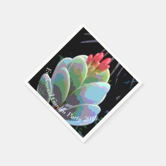 Cactus Flower Buds Disposable Serviette