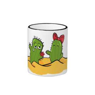 cactus flower love tea cup ringer mug