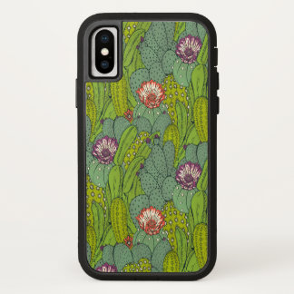 Cactus Flower Pattern Apple iPhone X Case