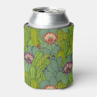 Cactus Flower Pattern Can Cooler