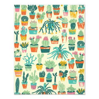 Cactus Flower Pattern Photo Print